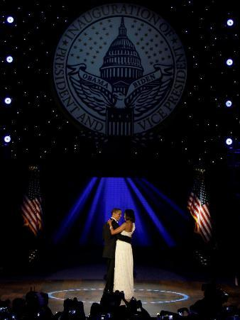 President Obama and First Lady Michelle Obama Dance, Neighborhood Inaugural Ball, January 20, 2009