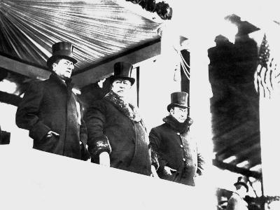William Howard Taft Reviews Parade After his Inauguration as President, March 4, 1909