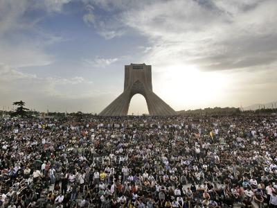 Supporters of Candidate Mir Hossein Mousavi Protest the Election Result at a Mass Rally in Tehran,