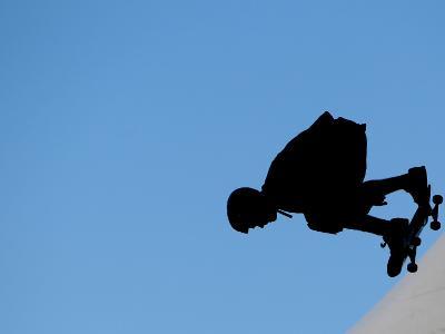 Renton Millar Competes at a Vertical International Skateboard Competition in Rio De Janeiro