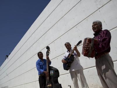 Volcanes Del Norte, a Band Formed by Inmates, Perform Next to Wall Inside Ciudad Juarez City Prison