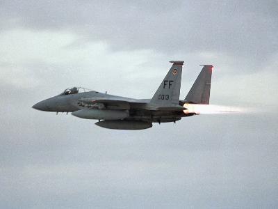 Gulf War 1991 USA Air Force Planes F15 Fighter