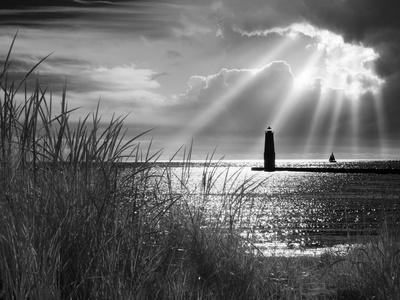 Frankfort Lighthouse and Sunbeams, Frankfort, Michigan '13