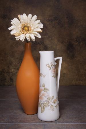 Orange Vase with Pitcher I