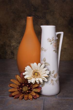 Orange Vase with Pitcher II