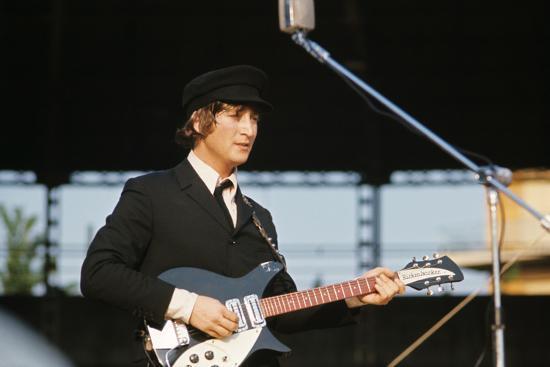 John Lennon Playing Guitar Photographic Print Allposters Com