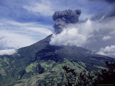 Tungurahua Volcano Erupting, Andes, Ecuador
