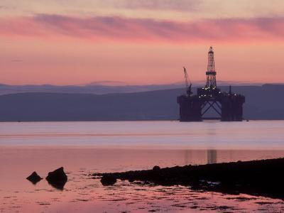 Oil Rig at Dawn, Ross-Shire, Scotland