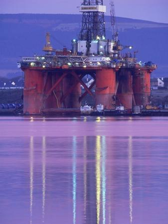 Oil Rig at Dawn, Ross-Shire, Scotland