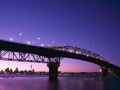 Auckland Harbour Bridge and Hauraki Gulf, Auckland, North Island, New Zealand