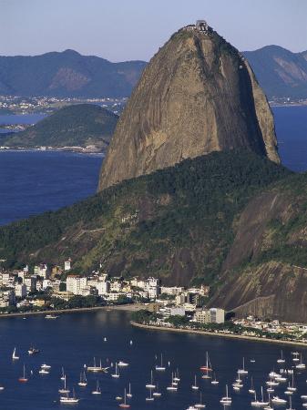 Sugar Loaf Mountain, Botafogo Bay, Rio de Janeiro, Brazil