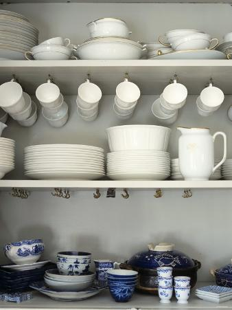 Crockery on Shelves