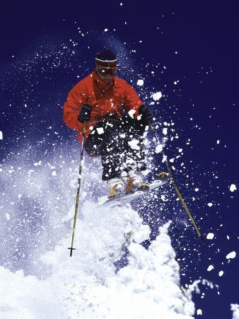 Low Angle View of a Man Skiing
