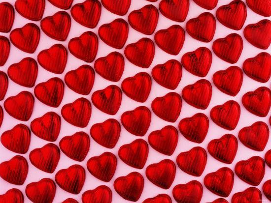 Red Chocolate Hearts For Valentine S Day Photographic Print At