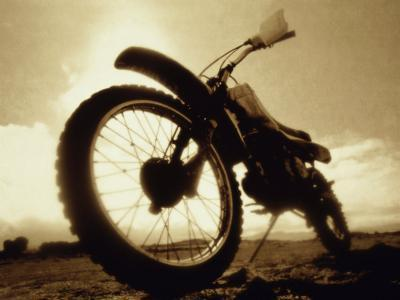 Low Angle View of a Dirt Bike