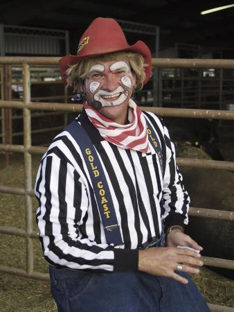 Grinning Rodeo Clown