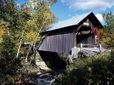 Gold Brook Bridge, Stowe, Vermont, USA