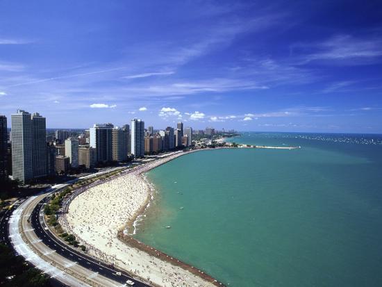Oak Street Beach Lake Michigan Chicago Illinois