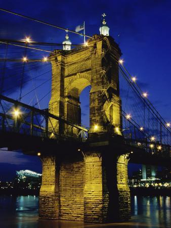 Roebling Suspension Bridge, Cincinnati, Ohio, USA