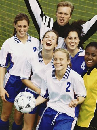 Portrait of a Female Soccer Team