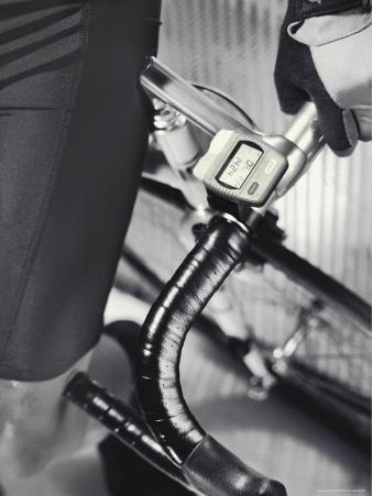 Close-up Image of a Man Leaning on a Bicycle