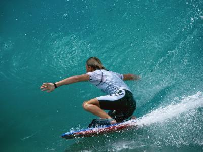 Rear View of Man Surfing