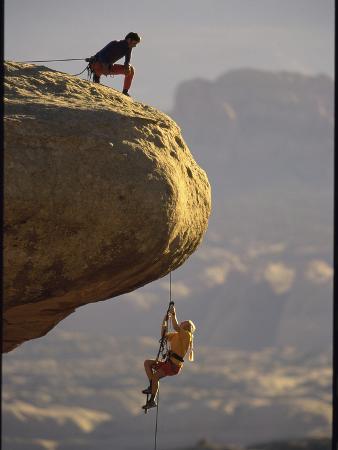 Climber Dangling