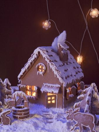 Gingerbread with Atmospheric Lighting