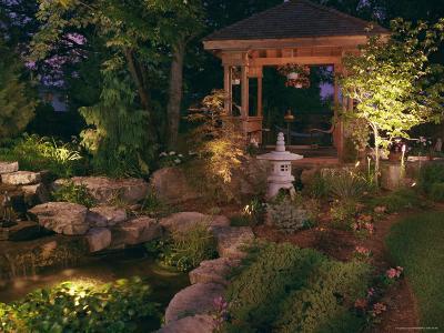 Garden Gazebo at Night