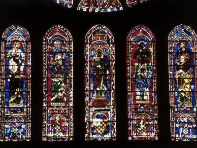 Windows of South Facade Chartres Cathedral Chartes France