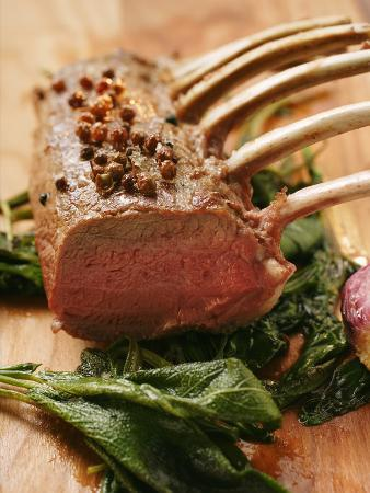 Rack of Lamb with Sichuan Pepper on Fried Sage