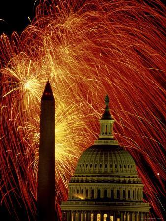 Washington Monument Capitol Building Washington, D.C. USA