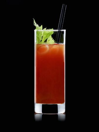Bloody Mary with Straw