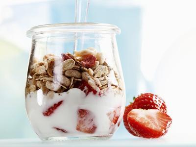 Yoghurt with Muesli and Strawberries