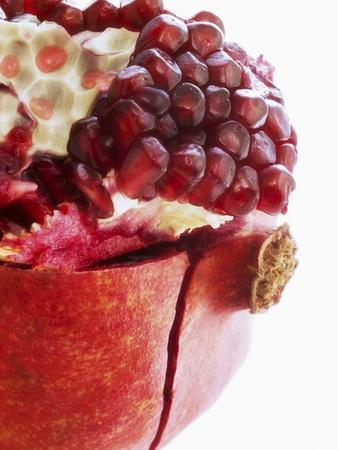Opened Pomegranate, Close-Up