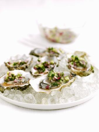 Marinated Oysters with Red Onions and Mint