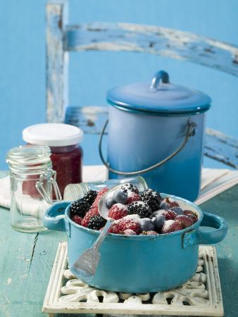Mixed Berries with Sugar for Jam