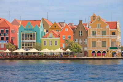 Colorful Colonial Houses in Willemstad, Curacao in the Caribbean