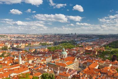 Aerial View of Old City Center of Prague (Unesco Site)
