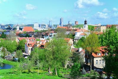 Vilnius City View from Hills to the Old and New City