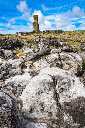 Moai in the Rapa Nui National Park, Easter Island, Chile, South America