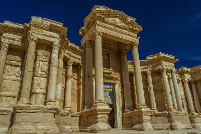 Close View of the Roman Ruins of Palmyra, Syria