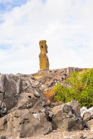 Moai in the Rapa Nui National Park, Easter Island, Chile, South America