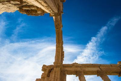 Archs of the Roman Ruins of the Syrian Town Called Palmyra