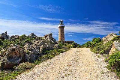 Road to Lighthouse - San Pietro Isle, Sardinia, Italy
