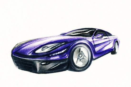 Car Art Sketch Sport Car Pencil Drawing Photographic Print By