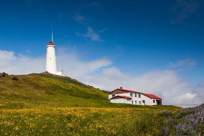 Reykjanesviti Lighthouse Built in 1929 Located at Reykjanes Peninsula in Iceland.