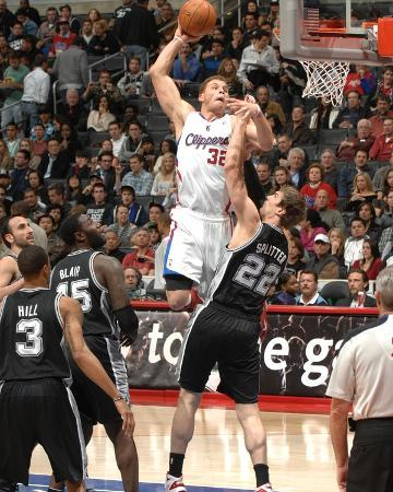 San Antonio Spurs v Los Angeles Clippers: Blake Griffin and Tiago Splitter