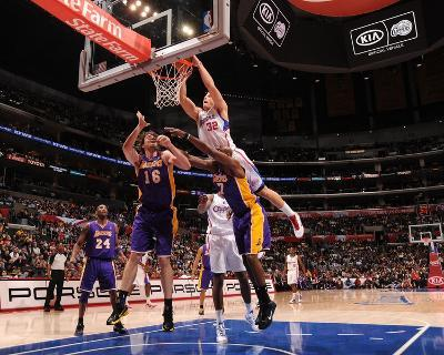 Los Angeles Lakers v Los Angeles Clippers: Blake Griffin, Pau Gasol and Lamar Odom