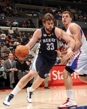 Memphis Grizzlies v Los Angeles Clippers: Marc Gasol and Blake Griffin